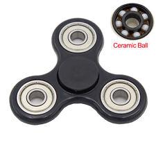 Fidget Hand Tri Spinner EDC Pocket Spinner Finger Toy Bearing Gift Black