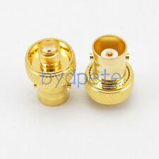 SMA female jack to BNC female jack Gold-plated RF Coaxial Connector Adapter