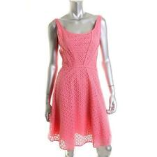 STUDIO  M NEW   Pink Double Scoop Lace Overlay Knee-Length Casual Dress M