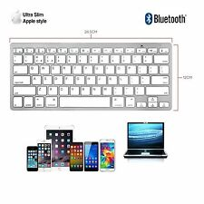 Slim Wireless Bluetooth Keyboard For iMac iPad Android Phone Tablet PCs UK FAST