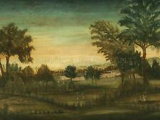 American XVIII secolo Paesaggio edifici vecchi Arte Dipinto Manifesto bb4823a