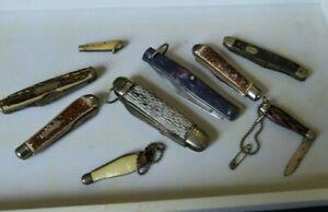 LOT Vintage Folding Pocket Knives Kent Colonial Forest Master Hammer Antique NR