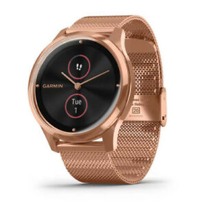 Garmin vivomove Luxe Hybrid Smartwatch (18K Rose Gold PVD with Rose Gold Band)