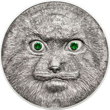 2014 Mongolia 500 - Manul Cat 1 Oz .999 Silver Coin Wildlife Protection