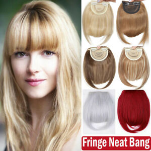 Fringe Bangs Clip In Hair Extensions Piece Thick Hair Bangs Side Bang as Human T