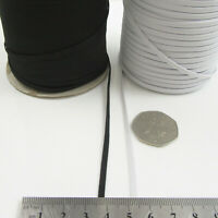 10 METRES ELASTICATED 3mm,5mm,6mm FLAT WOVEN MAKE  MASK ELASTIC STRETCH uk post