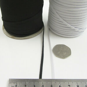 10 METRES ELASTICATED 3mm,5mm,6mm FLAT WOVEN MAKE  MASK ELASTIC STRETCH uk post