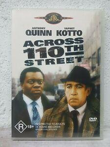 Across 110 th street DVD 1972 Anthony Quinn Yaphet Kotto REGION 4 - BRAND NEW