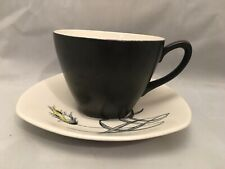 More details for mdwinter stylecraft fashion shape retro vintage cup and saucer staffordshire