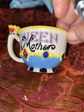 Mary Engelbreit Miniature Tea Cup Queen Mother 2 in. high