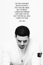 "Drake Quote Music Poster 24x36"" Print"