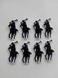 8 Parches bordados para Pegar Polo Deporte 1,8/3,5 cm  adorno ropa negro