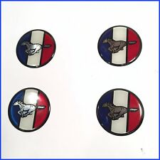 """MUSTANG V8 WHEEL or HUBCAP PLASTIC 2"""" RUNNING PONY EMBLEMS (4 pieces)"""