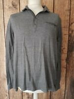 Mens Ted Baker Long Sleeve Polo Shirt Grey Size 6 46 Chest