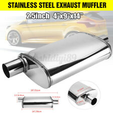 "2.5"" Slant Through Stainless Steel Exhaust Muffler Offset/Centre  4""x"