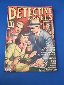 Detective Novels Vol. 10 #3 White Pages Pulp GD+