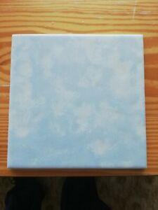 Alte Badfliese Fliese 60er Jahre blau 15 x 15 cm   zweites Motiv