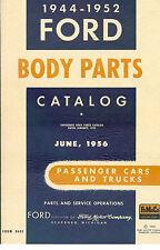 Ford Parts Manual Book Car Truck Body Catalog 1944-1952 V8 Pickup 1951 1950 1949