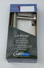 Gatco Latitude II Bathroom Wall Mount Toilet Tissue Holder in Satin Nickel