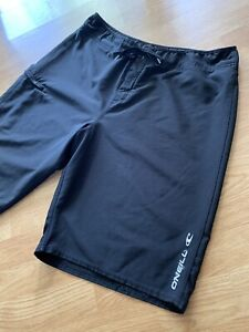 Vintage Black Classic Lifeguarding O'Neill Hyperfreak Stretch Surf Board Shorts