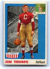 1955 TOPPS ALL-AMERICAN FOOTBALL #37 JIM THORPE, CARLISLE, HOF, 080314