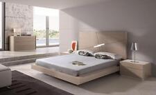 MODERN OAK VENEER KING SIZE BEDROOM SET J&M MADE IN PORTUGAL EVORA 5PC