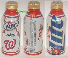 2012 WASHINGTON NATIONALS MLB BASEBALL MILLER LITE PINT ALUMINUM BEER BOTTLE-CAN
