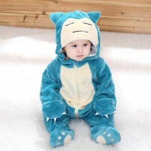 Snorlax Pijamas Baby Romper Jumpsuit Costume For Sleep Long Sleeve Children Suit