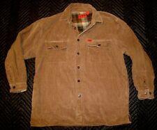VTG WOLVERINE Boot Corduroy Flannel Lined Work 100% Cotton Jacket Mens L #349