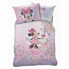 Minnie Mouse Fleur Set Housse de Couette Simple Réversible Literie Enfant