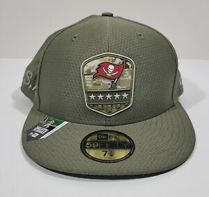 New Era 59Fifty Tampa Bay Buccaneeers Salute To Service Cap Size 7 1/4
