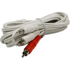 NEW 6 ft 1/8 3.5mm mini plug to 2-RCA stereo audio cable