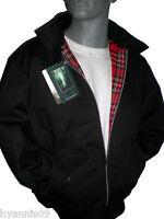 King size Classic 1970's Harrington Black & Navy Bomber jacket  2XL 3XL 4XL 5XL
