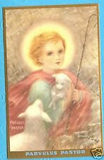 Vintage Catholic Holy Card Little Jesus the Shepherd Mother Nealis art