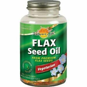 Nature's Life Flax Seed Oil 90 Vegetarian Softgels