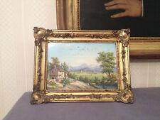 Tableau paysage,Aquarelle sur papier,XIX°.