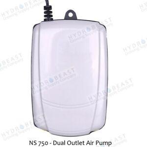 Dual Outlet Air Pump NS750, 105Gal/Hr, Multi-Speed, 5W