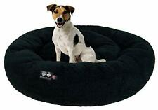 Bessie And Barnie Ultra Plush Deluxe Comfort Pet Dog & Cat Black Snuggle Bed .