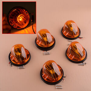 5pcs Amber Cab Roof Top Marker Clearance Light Fit For Chevrolet GMC C K Series