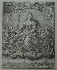 1725 OLD FINE ENGRAVING VIEW OF DORDRECHT HOLY VIRGIN NETHERLANDS DUTCH HISTORY
