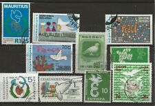 Doves- on a good selection of 10 mint and used stamps.