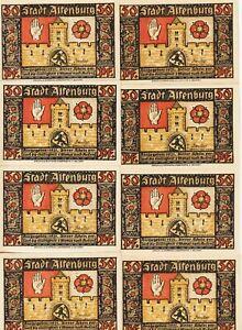 Germany-Altenburg-Set-(8),50 Pfennig Notgeld,1921,Uncirculated Condition,G#21.a