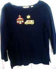 BECHAMEL PETITES-Petite Medium-School theme-Navy blue-Long sleeves