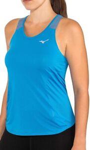 Mizuno Aero Womens Running Vest Tank Top - Blue