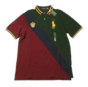 Polo Ralph Lauren Big & Tall Green Multi Colorblock Big Gold Pony Polo Shirt