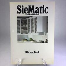 Vtg 1984 Siematic Kitchen Interior Design Book Mid-Century Retro Home Interior