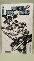 PROJECT SUPERPOWERS #1 PHILIP TAN B & W SKETCH INCENTIVE VARIANT COVER - 1/10
