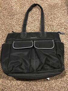"Carters Diaper Black Bag ( Small Size  16"" X 12"")"
