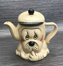 P & K Bulldog Droopy Face Dog In Flat Cap Novelty Collectable Teapot Very Cute