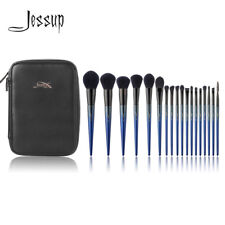 New Complete Cosmetic Tools Jessup Makeup Brush Set Royal Blue And Toiletry Bag